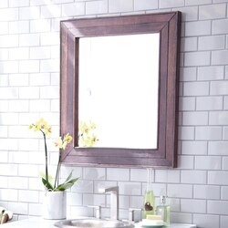 NATIVE TRAILS MR134 CABERNET 29 X 33 INCH RECTANGLE RECLAIMED WOOD MIRROR