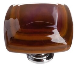 SIETTO K-102 STRATUM WOODLAND AND UMBER 1-1/4 INCH SQUARE CABINET PULL