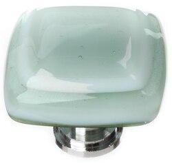 SIETTO K-103 STRATUM SPRUCE GREEN 1-1/4 INCH SQUARE CABINET PULL