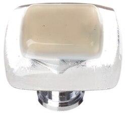 SIETTO K-714 REFLECTIVE SESAME 1-1/4 INCH SQUARE CABINET KNOB