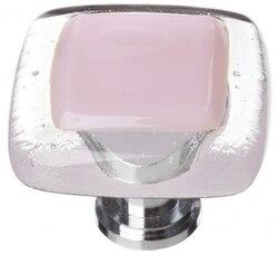 SIETTO K-717 REFLECTIVE PINK 1-1/4 INCH SQUARE CABINET KNOB