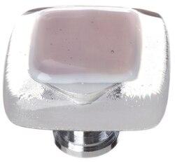 SIETTO K-718 REFLECTIVE PURPLE 1-1/4 INCH SQUARE CABINET KNOB