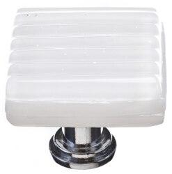 SIETTO K-800 REED WHITE 1-1/4 INCH SQUARE CABINET KNOB