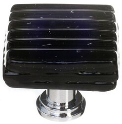 SIETTO K-802 REED BLACK 1-1/4 INCH SQUARE CABINET KNOB