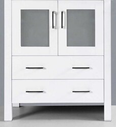 BOSCONI A-WH-30MC 30 INCH VANITY BASE CABINET IN WHITE