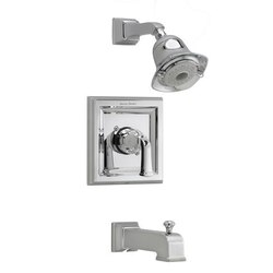 AMERICAN STANDARD T555.528 TOWN SQUARE PRESSURE BALANCE BATH/SHOWER TRIM KIT WITH FLOWISE SHOWERHEAD