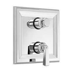 AMERICAN STANDARD T555.740 TOWN SQUARE TWO-HANDLE THERMOSTATIC MIXING VALVE TRIM AND CARTRIDGE