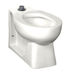 AMERICAN STANDARD 3312.001.020 HURON WHITE ELONGATED FRONT FLUSH VALVE BOWL, TOP SPUD