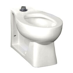 AMERICAN STANDARD 3313.001.020 HURON WHITE ELONGATED FRONT FLUSH VALVE BOWL, TOP SPUD, WITH BED PAN LUGS