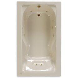 AMERICAN STANDARD 2774.002 CADET 72 X 42 INCH ACRYLIC BATHTUB WITH BACKREST, FOR DROP-IN OR ALCOVE INSTALLATION