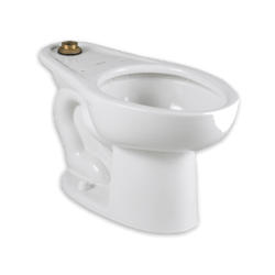 AMERICAN STANDARD 3455.001.020 MADERA 1.1- 1.6 GPF WHITE ELONGATED FLUSHOMETER TOILET WITH EVERCLEAN