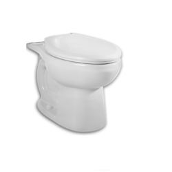 AMERICAN STANDARD 3708.216 H2OPTIMUM SIPHONIC ROUND FRONT TOILET BOWL WITH EVERCLEAN SURFACE