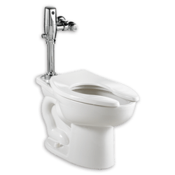 AMERICAN STANDARD 3451.001.020 MADERA 1.1- 1.6 GPF WHITE ELONGATED FLUSHOMETER TOILET WITH EVERCLEAN
