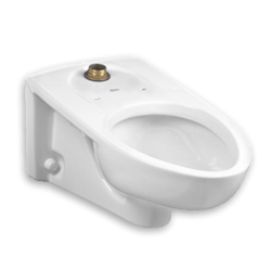 AMERICAN STANDARD 3353.101.020 AFWALL MILLENIUM 1.1- 1.6 GPF FLOWISE WHITE ELONGATED FLUSHOMETER TOILET WITH EVERCLEAN
