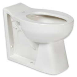 AMERICAN STANDARD 3342.001.020 HURON RIGHT HEIGHT WHITE ELONGATED TOILET WITH INTEGRAL SEAT, SEAT HOLES AND EVERCLEAN