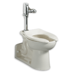 AMERICAN STANDARD 3691.001.020 PRIOLO FLOWISE WHITE ELONGATED FLUSH VALVE TOILET WITH EVERCLEAN