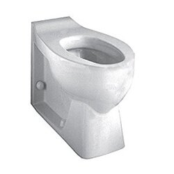 AMERICAN STANDARD 3341.001.020 HURON RIGHT HEIGHT WHITE ELONGATED TOILET WITH INTEGRAL SEAT AND EVERCLEAN
