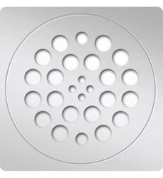 AMERICAN STANDARD 754951-201 REDI 5.75 INCH ROUND SHOWER PAN DRAIN PLATE WITH SQUARE TRIM