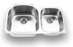 YOSEMITE HOME DECOR MAG3320 33 INCH UNDERMOUNT DOUBLE BOWL KITCHEN SINK