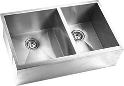 YOSEMITE HOME DECOR MAGS3320DAP 32 APRON FRONT DOUBLE BOWL KITCHEN SINK
