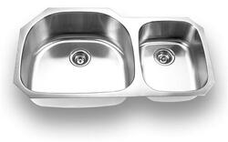 YOSEMITE HOME DECOR MAG3720 37 INCH UNDERMOUNT DOUBLE BOWL KITCHEN SINK