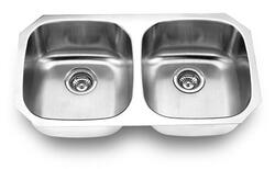YOSEMITE HOME DECOR MAGNUM 502 32 INCH UNDERMOUNT DOUBLE BOWL KITCHEN SINK
