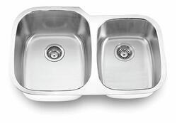 YOSEMITE HOME DECOR MAG503 32 INCH UNDERMOUNT DOUBLE BOWL KITCHEN SINK
