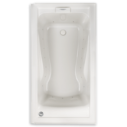 AMERICAN STANDARD 2425VC-RHO EVOLUTION 60 X 32 INCH ACRYLIC EVERCLEAN WHIRLPOOL SYSTEM, RIGHT HAND DRAIN OUTLET, FOR ALCOVE INSTALLATION