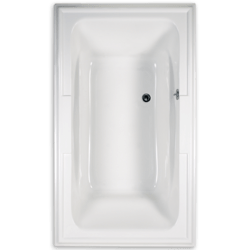 AMERICAN STANDARD 2742.048WC.K2 TOWN SQUARE 72 X 42 INCH ACRYLIC ECOSILENT WHIRLPOOL WITH CHROMATHERAPY LED LIGHTING SYSTEM