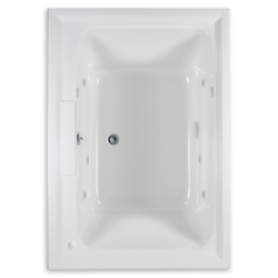 AMERICAN STANDARD 2748.048WC.K2 TOWN SQUARE 60 X 42 INCH ACRYLIC ECOSILENT EVERCLEAN WHIRLPOOL WITH CHROMATHERAPY LED LIGHTING SYSTEM