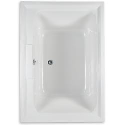 AMERICAN STANDARD 2748.448WC.K2 TOWN SQUARE 60 X 42 INCH ACRYLIC ECOSILENT COMBO BATH WITH CHROMATHERAPY LED LIGHTING SYSTEM