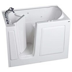 AMERICAN STANDARD 3151.509.W VALUE SERIES GELCOAT 31 X 51 INCH WALK-IN BATH WITH WHIRLPOOL SYSTEM