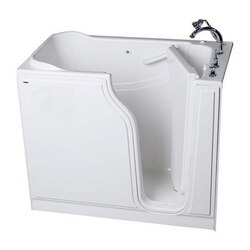 AMERICAN STANDARD 3052.509.A VALUE SERIES 30 X 52 INCH GELCOAT WALK-IN BATH WITH AIR SPA SYSTEM