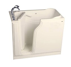 AMERICAN STANDARD 3052.509.W VALUE SERIES 30 X 52 INCH GELCOAT WALK-IN BATH WITH WHIRLPOOL SYSTEM