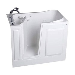 AMERICAN STANDARD 2848.509.C VALUE SERIES ACRYLIC 28 X 48 INCH WALK-IN BATH WITH COMBINATION SYSTEM