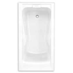 AMERICAN STANDARD 2425V-LHO.002 EVOLUTION 60 X 32 INCH ACRYLIC DEEP SOAK INTEGRAL APRON BATHTUB, LEFT HAND DRAIN OUTLET, FOR ALCOVE INSTALLATION