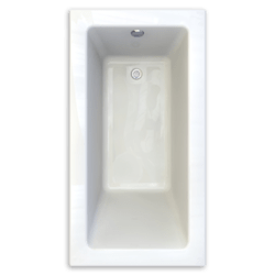 AMERICAN STANDARD 2932.002-D0 STUDIO 60 X 32 INCH ACRYLIC BATHTUB, ZERO-EDGE PROFILE, FOR DROP-IN OR UNDERMOUNT INSTALLATION
