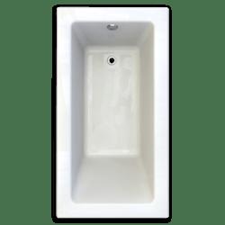 AMERICAN STANDARD 2932.002-D2 STUDIO 60 X 32 INCH ACRYLIC BATHTUB, FOR ALCOVE INSTALLATION