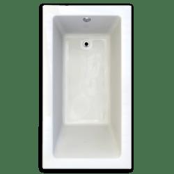 AMERICAN STANDARD 2938.002-D0 STUDIO 66 X 36 INCH ACRYLIC BATHTUB, ZERO-EDGE PROFILE, FOR DROP-IN OR UNDERMOUNT INSTALLATION