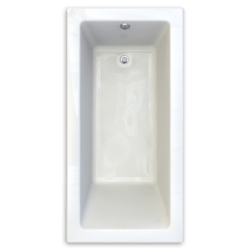 AMERICAN STANDARD 2940.002-D0 STUDIO 72 X 36 INCH ACRYLIC BATHTUB, ZERO-EDGE PROFILE, FOR DROP-IN OR UNDERMOUNT INSTALLATION
