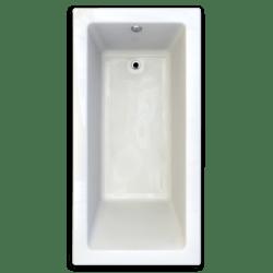 AMERICAN STANDARD 2940.002-D2 STUDIO 72 X 36 INCH ACRYLIC DROP-IN BATHTUB - 2 INCH PROFILE