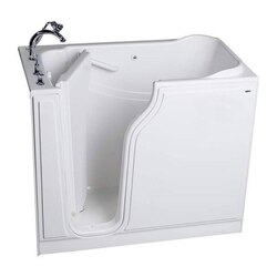 AMERICAN STANDARD 3052.509.S VALUE SERIES 30 X 52 INCH GELCOAT WALK-IN BATH WITH QUICK DRAIN
