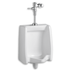 AMERICAN STANDARD 6590.503.020 WASHBROOK 0.125 GPF WASHOUT TOP SPUD WHITE URINAL WITH MANUAL FLUSH VALVE SYSTEM