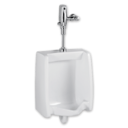 AMERICAN STANDARD 6590.505.020 WASHBROOK 0.5 GPF WASHOUT TOP SPUD WHITE URINAL WITH SELECTRONIC BATTERY FLUSH VALVE SYSTEM