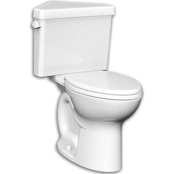 AMERICAN STANDARD 216AD.104 TRIANGLE CADET PRO RIGHT HEIGHT ELONGATED TOILET, 1.28 GPF