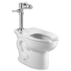 AMERICAN STANDARD 2858.128.020 MADERA 1.28 GPF TOILET WITH EXPOSED MANUAL FLUSH VALVE SYSTEM