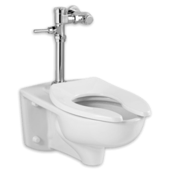 AMERICAN STANDARD 2859.111.020 AFWALL MILLENNIUM SYSTEM WITH MANUAL FLUSH VALVE, 1.28 GPF