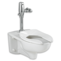 AMERICAN STANDARD 3351.660.020 AFWALL 1.6 GPF EVERCLEAN TOILET WITH SELECTRONIC EXPOSED BATTERY FLUSH VALVE SYSTEM