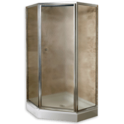 AMERICAN STANDARD AM000QF.436.213 HAMMERED GLASS CUSTOM PRESTIGE FRAMED PIVOT NEO ANGLE SHOWER DOOR FITS 36 INCH MAXIMUM OPENING