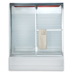 AMERICAN STANDARD AM00729.436 HAMMERED GLASS PRESTIGE EURO FRAMED BY-PASS SLIDING SHOWER DOORS FITS 52 TO 54 INCH WIDTH OPENINGS